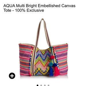 NWT Aqua embellished tote